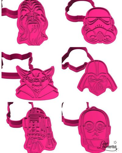 Kit 4 cortadores Star Wars